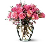 Pink Birthday Roses in San Clemente CA, Beach City Florist