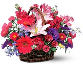 Joyous Birthday Basket in Manalapan NJ, Vanity Florist II