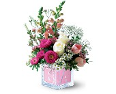 Teleflora's Baby Block (Girl) in North Manchester IN, Cottage Creations Florist & Gift Shop