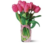 Pink Tulips in Mount Morris MI, June's Floral Company & Fruit Bouquets