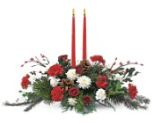 Holiday Delight Centerpiece in Weymouth MA, Bra Wey Florist