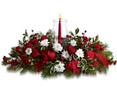 Happy Holidays Centerpiece in Toronto, Ontario, Capri Flowers & Gifts