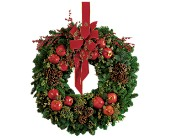 Pomegranate Wreath in Toms River NJ, John's Riverside Florist