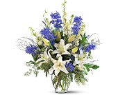 Sapphire Miracle Arrangement in Lawrence KS, Englewood Florist