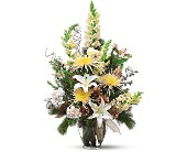 Winter Whites and Glittering Golds in Belford NJ, Flower Power Florist & Gifts