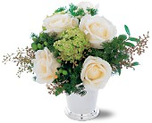 Silver Mint Julep Bouquet in San Jose CA, Rosies & Posies Downtown