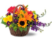 Basket of Blooms in Manalapan NJ, Rosie Posies