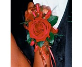 Beads and Red Roses Wristlet in Smyrna GA, Floral Creations Florist