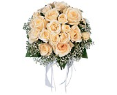 Hand-Tied White Roses Nosegay in St. Petersburg FL, The Flower Centre of St. Petersburg
