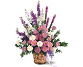 Lavender Reminder Basket in Grand-Sault/Grand Falls, New Brunswick, Centre Floral de Grand-Sault Ltee