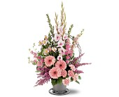 Hopeful Pink Basket in Milford MA, Francis Flowers, Inc.