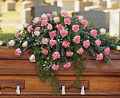 Heavenly Pink Casket Spray in Largo FL, Rose Garden Florist