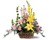 Springtime Basket in Yonkers NY, Beautiful Blooms Florist
