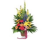 Celebration of Life Arrangement in Belleville ON, Live, Love and Laugh Flowers, Antiques and Gifts