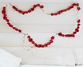 Rosary of Red Roses in East Quogue NY, Roses And Rice