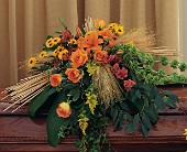 Autumn Faith Casket Spray in Hilton NY, Justice Flower Shop