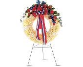 Patriotic Spirit Wreath in Oklahoma City OK, Array of Flowers & Gifts