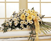 Drop of Sunshine Casket Spray in Baldwin, New York, Wick's Florist, Fruitera & Greenhouse