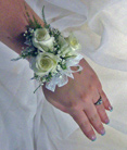 Three Sweetheart Rose Wrist Corsage in Royersford PA, Three Peas In A Pod Florist