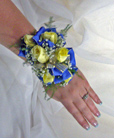 Ribbon Backed Sweetheart Rose Wrist Corsage in Royersford PA, Three Peas In A Pod Florist
