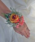 Single Rose Wrist Corsage in Royersford PA, Three Peas In A Pod Florist