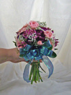 Tied Posy, Mixed Flowers with Spray Roses in Royersford PA, Three Peas In A Pod Florist