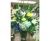Blue & Yellow  Bouq in Katy TX, Kay-Tee Florist on Mason Road