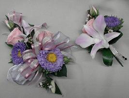 Pink and Purple Corsage in Cerritos CA, The White Lotus Florist