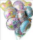 Baby Boy Mylar Balloon Bouquet in Kennett Square PA, Barber's Florist Of Kennett Square