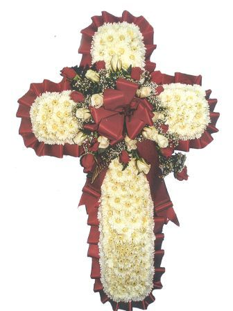 Large Cross with Roses in Waterbury CT, The Orchid Florist