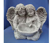 Angels with bowl in Dover, Ohio, Baker Florist, LLC