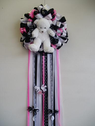 Zebra Baby Door Badge in Longview TX, The Flower Peddler, Inc.