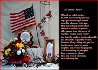 Firemans Prayer in Canton NY, White's Flowers