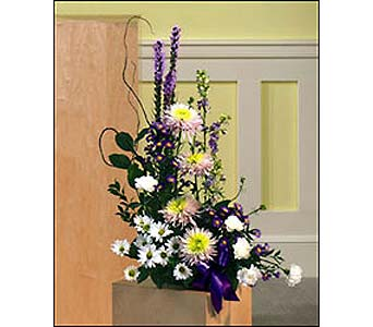 Liatris & Spider Mums Arrangement in Toronto ON, Forest Hill Florist