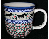 polish pottery mug with horse design in Warrenton VA, Village Flowers