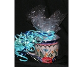 polish pottery mug with candy, butterfly and flowe in Warrenton VA, Village Flowers
