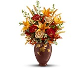 Teleflora's Falling Leaves Vase Bouquet in Etobicoke ON, Rhea Flower Shop