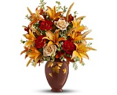 Teleflora's Falling Leaves Vase Bouquet - Deluxe in Salt Lake City UT, Especially For You