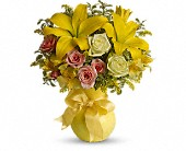 Teleflora's Sunny Smiles in Lowell MA, Wood Bros Florist