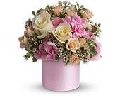 Teleflora's Blushing Beauty in Beaumont TX, Blooms by Claybar Floral