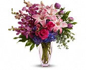 Teleflora's Purple Perfection in Austintown OH, Crystal Vase Florist