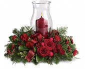 Holiday Glow Centerpiece in Peoria Heights IL, Gregg Florist