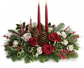 Christmas Wishes Centerpiece in Joliet IL, The Petal Shoppe, Inc.