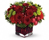 Teleflora's Merry & Bright in Winterspring, Orlando FL, Oviedo Beautiful Flowers
