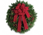 Classic Holiday Wreath in Beaumont TX, Blooms by Claybar Floral
