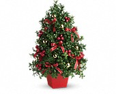 Deck the Halls Tree in Cerritos CA, The White Lotus Florist
