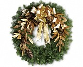 Glitter & Gold Wreath in Utica NY, Chester's Flower Shop And Greenhouses