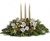 Royal Christmas Centerpiece in Chillicothe IL, Picket Fence Floral, Gift and Garden Center