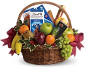 Fruits and Sweets Christmas Basket in Brookfield WI, A New Leaf Floral