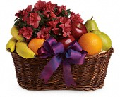 Fruits and Blooms Basket in Timmins ON, Heartfelt Sympathy Flowers